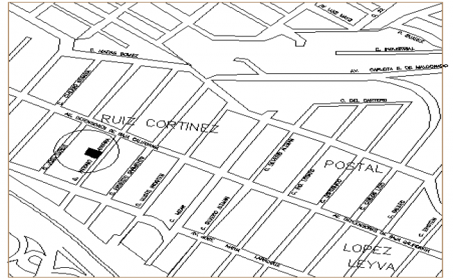 Site plan of single family housing project dwg file