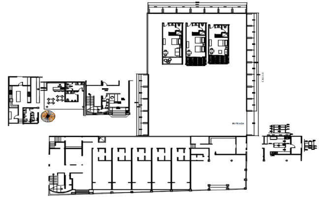 Site plan of the hotel in dwg file