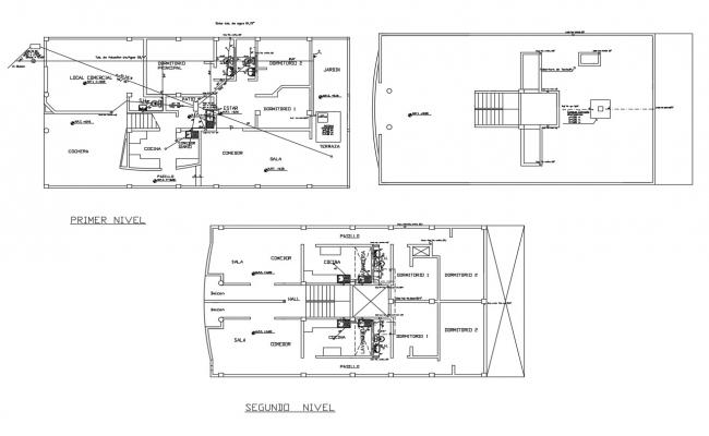Site plan of the residential house in dwg file