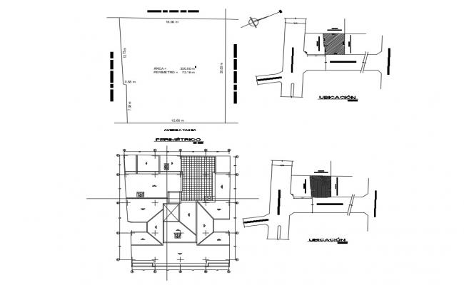 Site plan with location map of apartment building dwg file