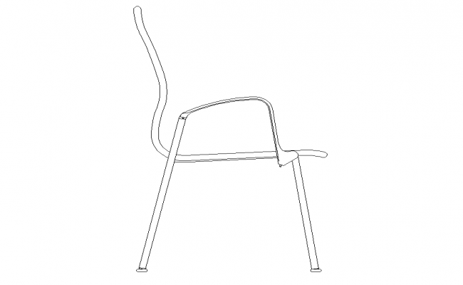Sitting chair CAD furniture block detail elevation 2d view dwg file