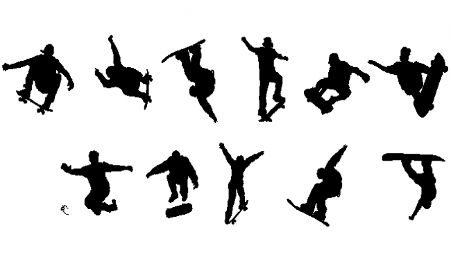 Skateboard detail dwg file