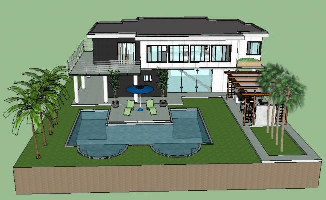 SketchUp file of the house with exterior