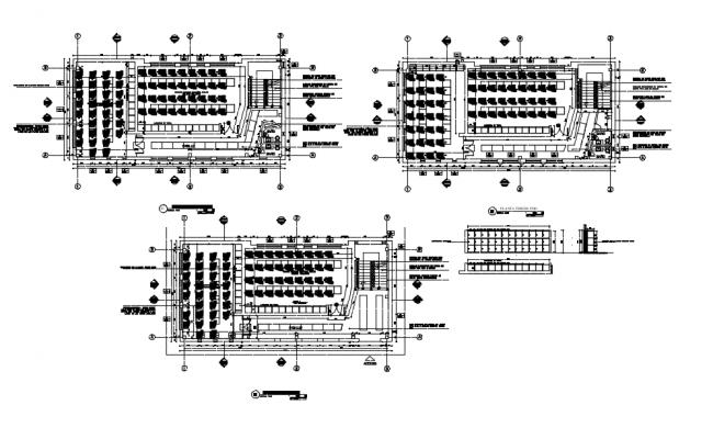 Skies razor company locker plan view with metallic structure dwg file