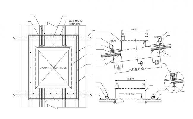 Sky Roof Window CAD Drawing