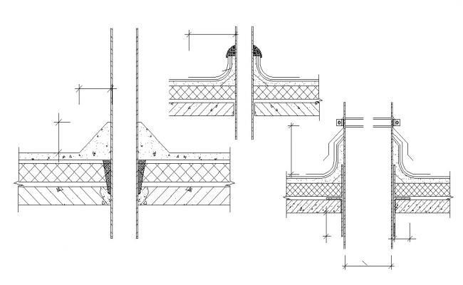 Slab Waterproofing Section CAD Drawing