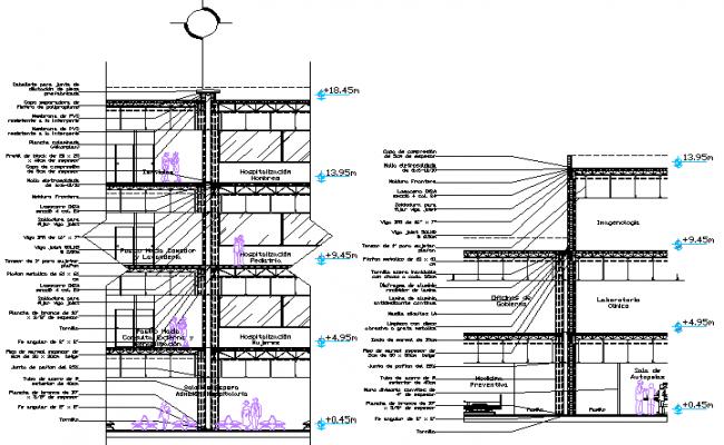 Slab section detailing dwg file