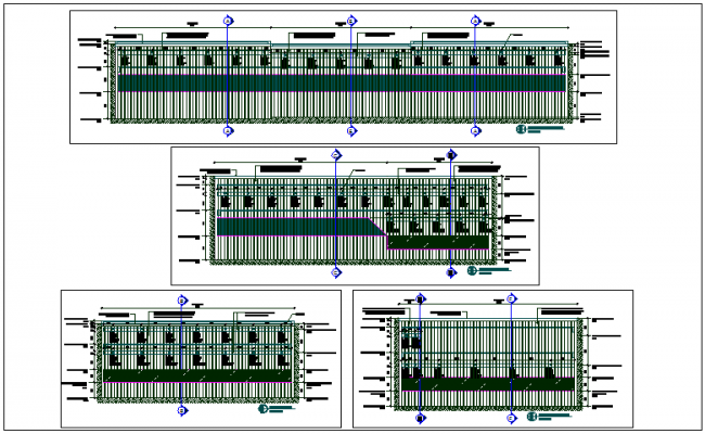 Slab structure and concrete plan detail view dwg file