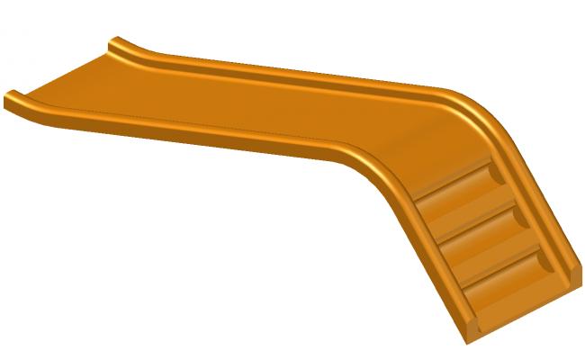Slider detail elevation 3d model layout autocad file
