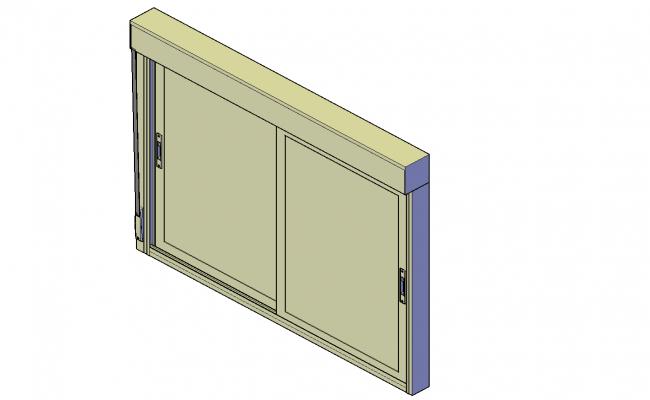 Sliding aluminium window plan detail dwg file.
