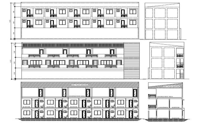 Small Apartment Building Drawing