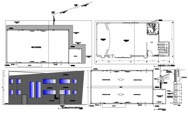 Small Auditorium Building Plan DWG File