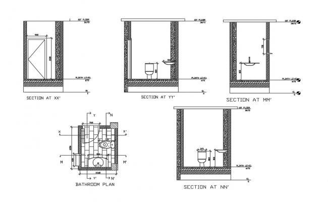 Small Bathroom Designs In AutoCAD File
