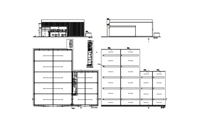 Small Building Elevation In DWG File
