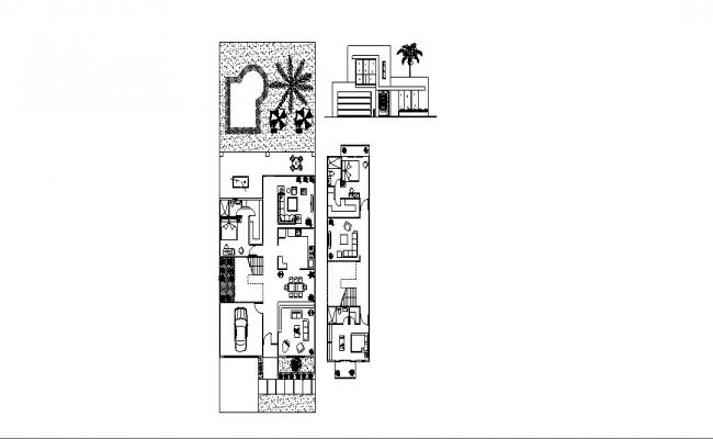 Small Farmhouse Plan In DWG File