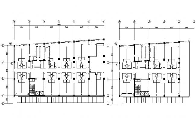 Small Hotel Room Building Design AutoCAD File Free