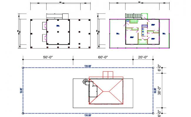 Small House Design 2d Architecture Plan