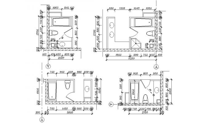 Small Toilet Room Design AutoCAD File Free