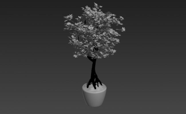 Small Tree Block design 3d Max File