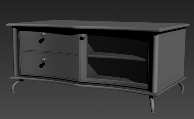 Small Wooden Cabinet 3D MAX File