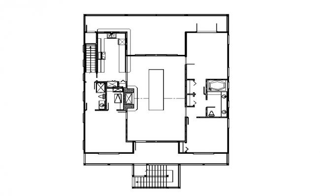 Small house ground floor framing plan cad drawing details dwg file