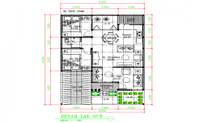 Small house plan layout file