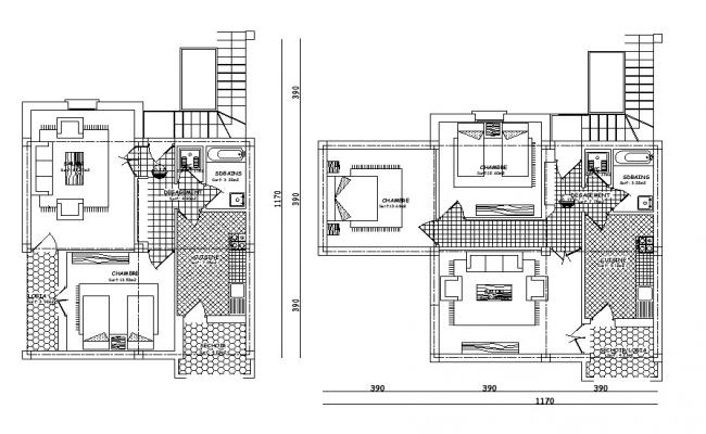 Small modern house designs and floor plans CAD file