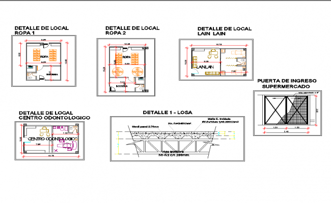 Small Office Plan Layout In AutoCAD File