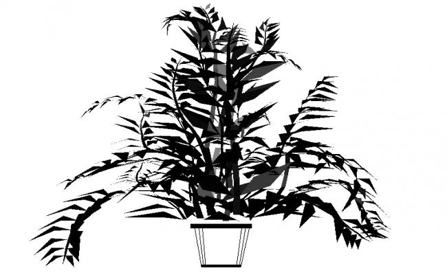 Small plant cad block