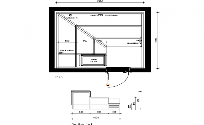 Small room construction plan