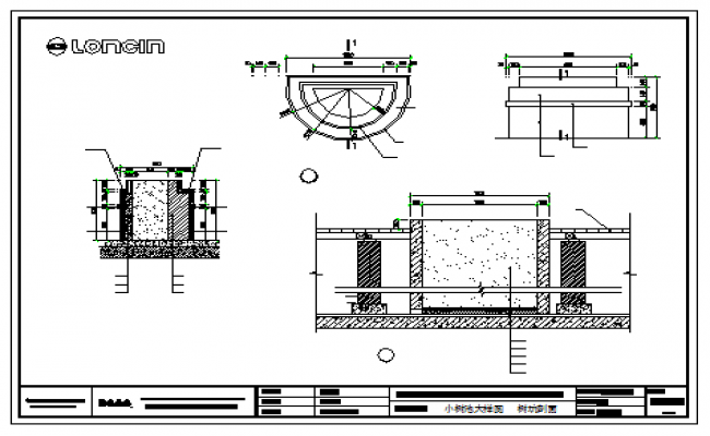 Small tree pool large sample and  tree pit section design drawing