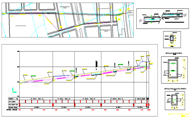 Small underground Irrigation Canal Construction Details dwg file