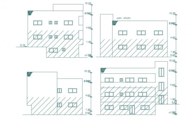 Small Apartment House Building elevation Design