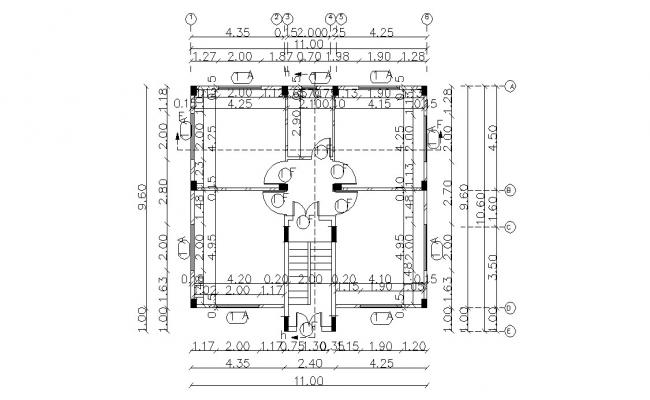 Small House Building Design With Working Drawing AutoCAD File