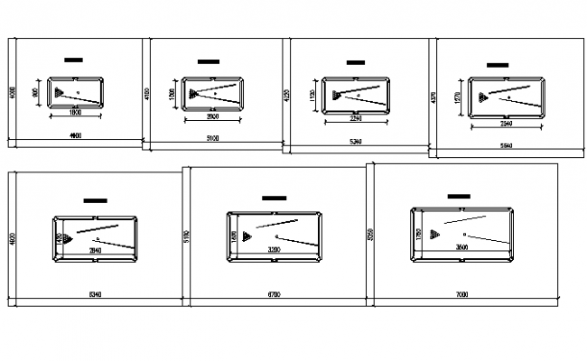 Snooker table room size guide plan view detail