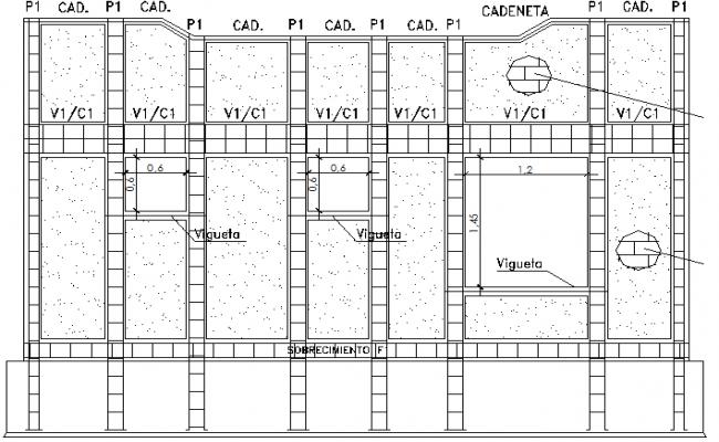 Social Head Quarters Design and Elevation dwg file