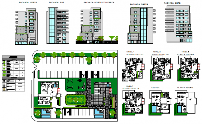 Social housing set design drawing