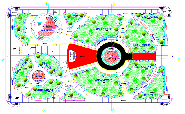 Social projection park layout file