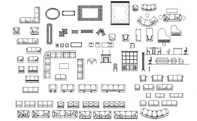 Sofa CAD Blocks Free Download