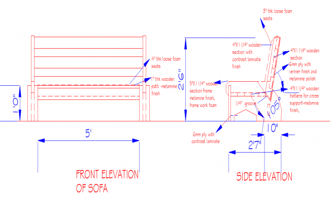 Sofa Design dwg file