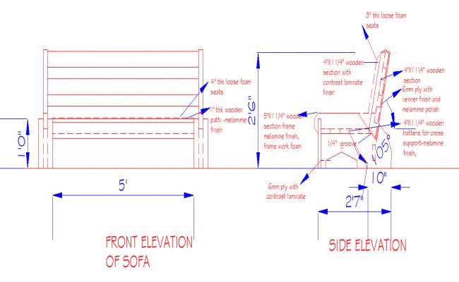 Sofa Design Dwg File