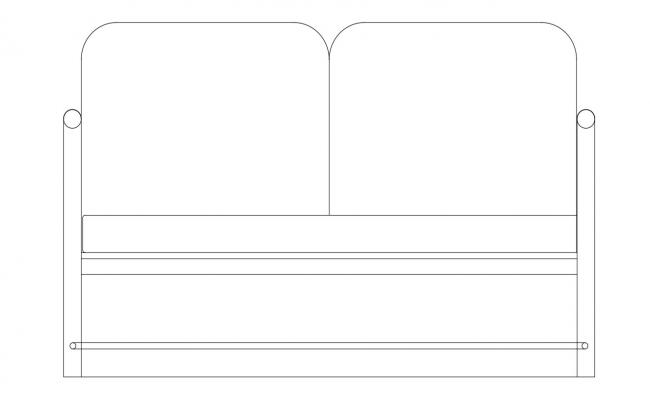 Sofa Elevation CAD File Free