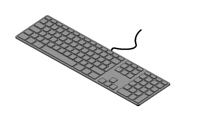 Soft touch keyboard 3d