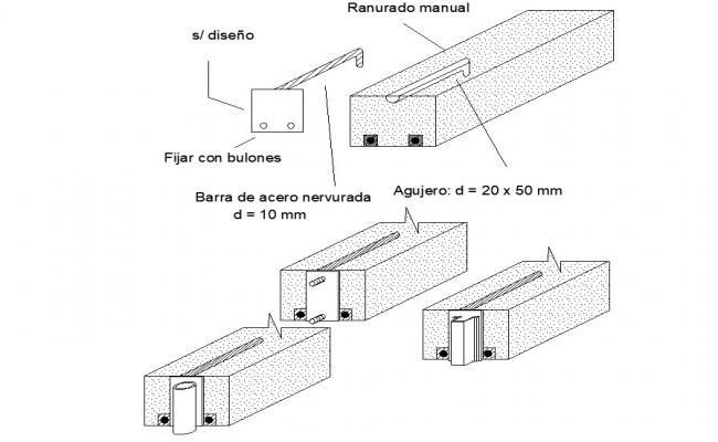 Solid Concrete Blocks CAD File Download
