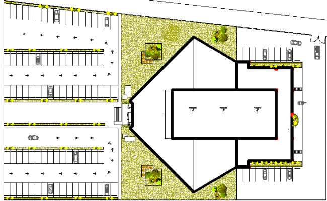 Space detail required for auditorium construction dwg file
