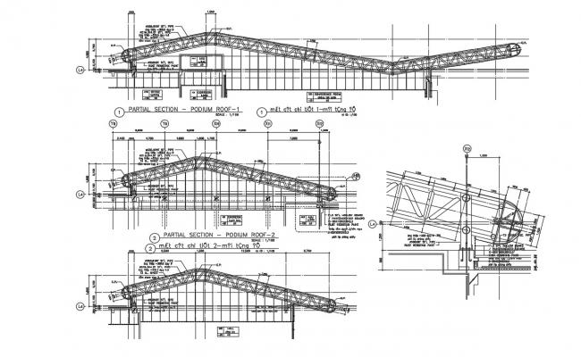 Span Steel Structure Plan AutoCAD File