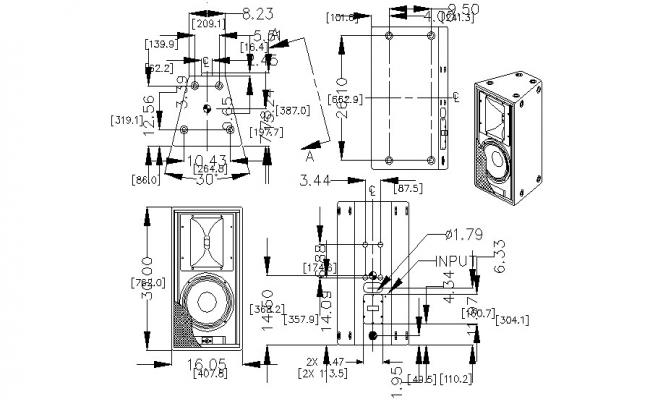 Speaker CAD Drawing