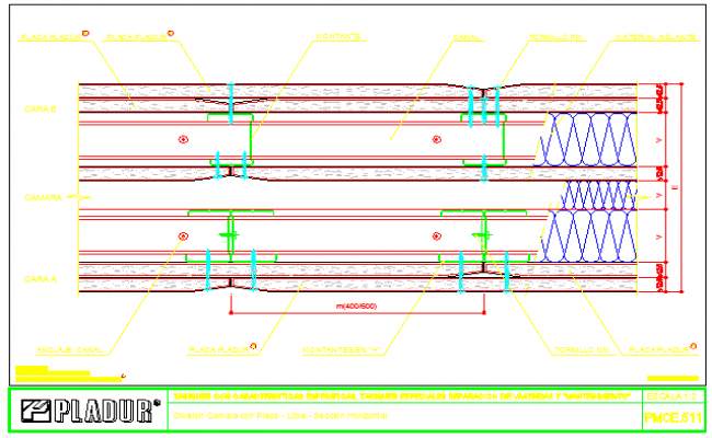Special block design of separation of housings and maintenance design drawing
