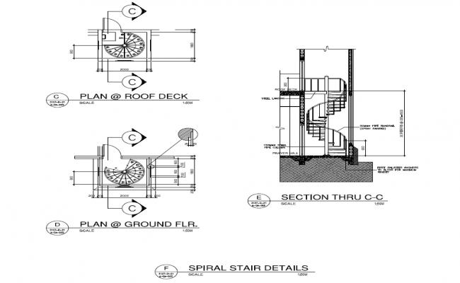 Spiral staircase design Spiral stair details