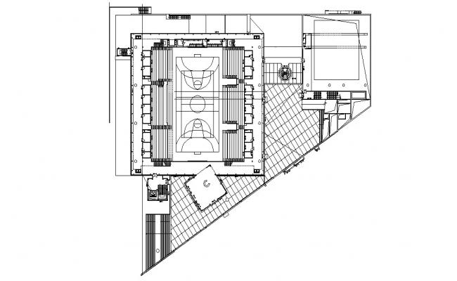 Sport Area Plan AutoCAD Drawing File